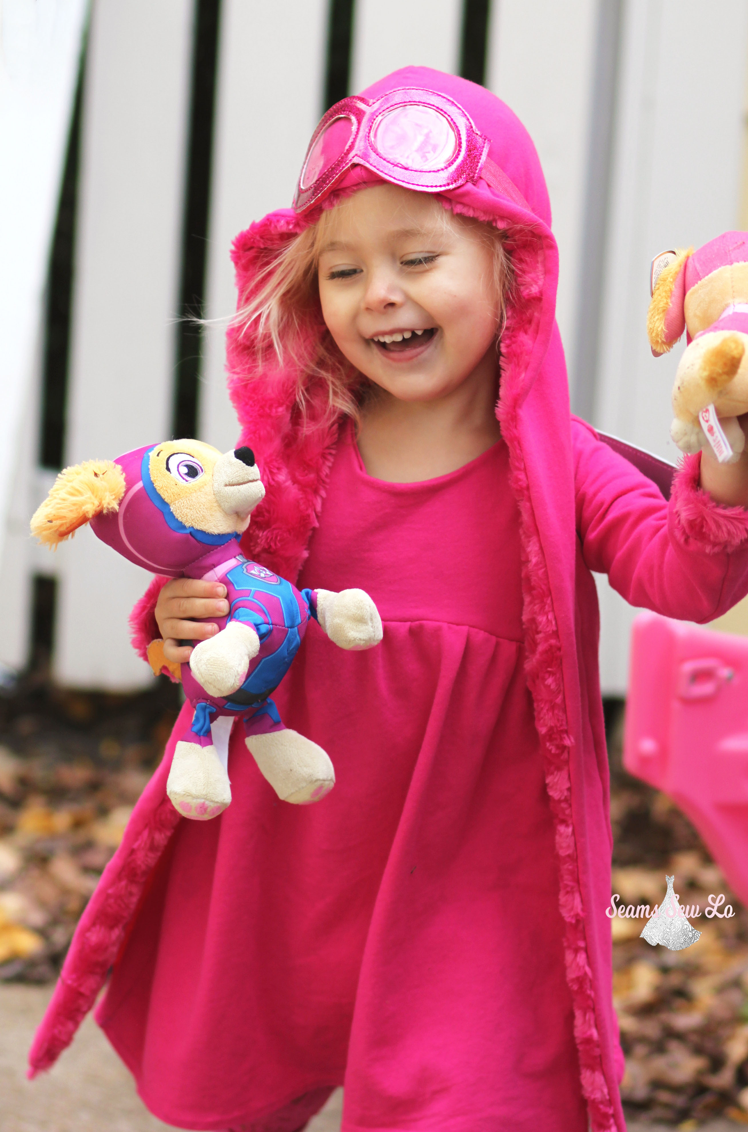 0243c2f56e299 diy skye halloween costume paw patrol for toddlers - Seams Sew Lo