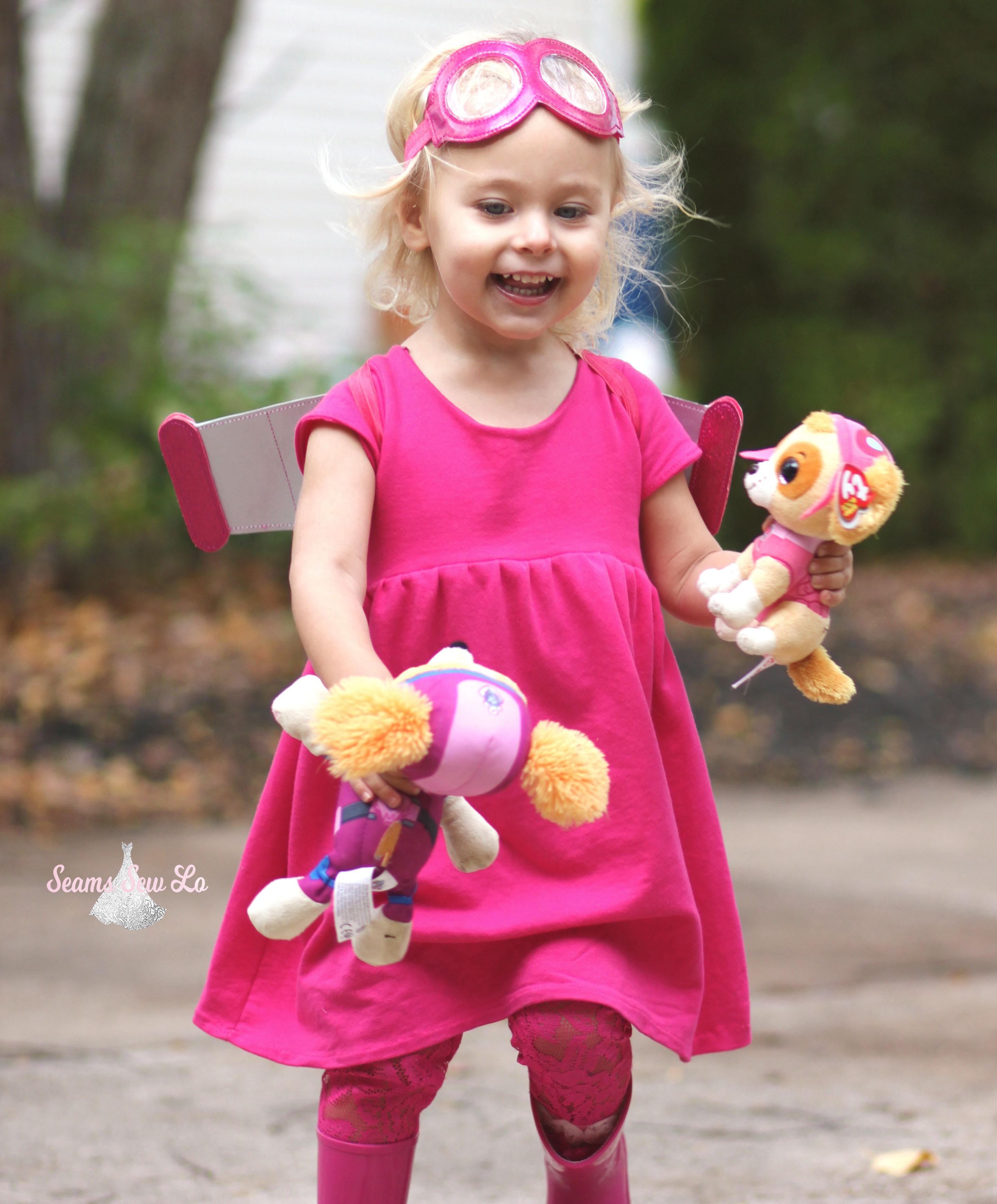2cc78e968e06d paw patrol diy halloween costume skye pink - Seams Sew Lo