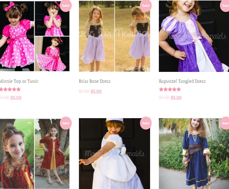 princess dresss sewing patterns sale for halloween by made for ...