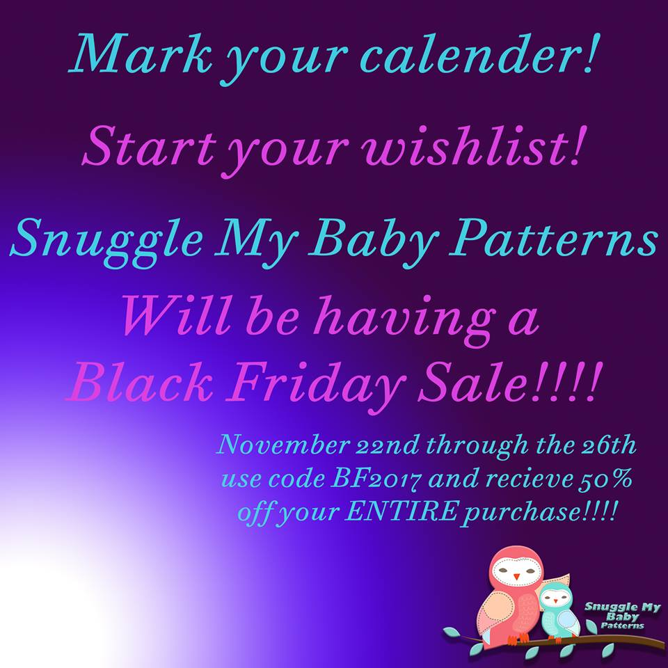 50 Off At The Snuggle My Baby Sewing Patterns Black