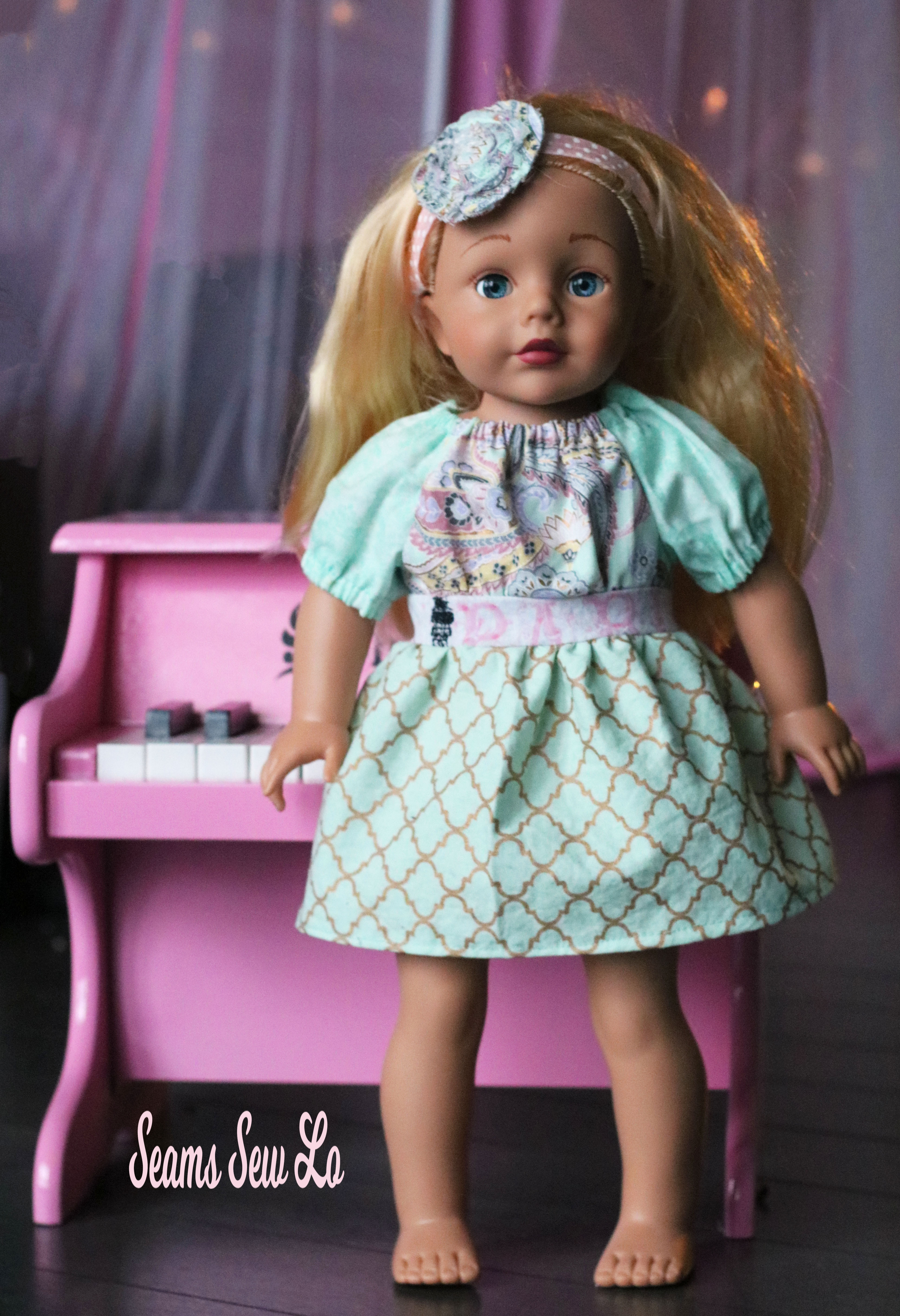 Party Time Dress Doll Sewing Pattern by Oh Sew Kat Blog ...