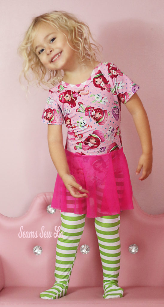 Strawberry Shortcake Inspired Ballet Leotard And Tights